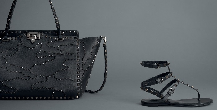 pelle e borchie moda