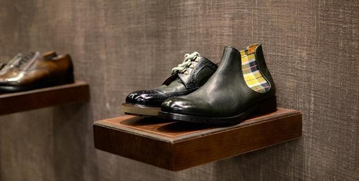 dettaglio scarpa uomo